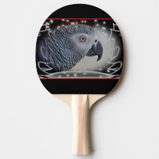 African Grey Snowy Christmas Ping-Pong Paddle