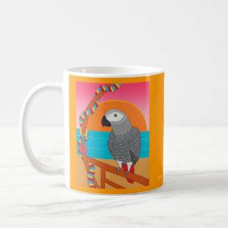 African Grey Tropical Island Getaway Mug