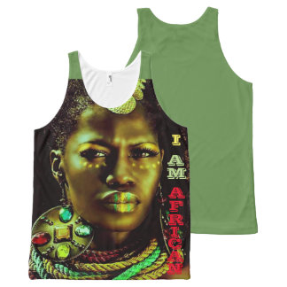 African: I Am African All-Over-Print Tank Top