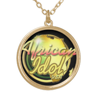 AFRICAN IDOL USA CHAIN ROUND PENDANT NECKLACE