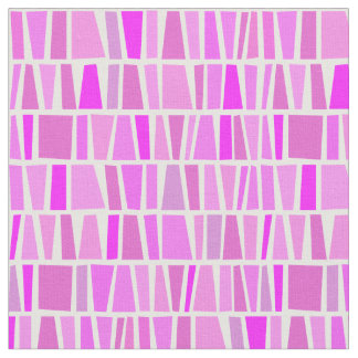 African Inspired Pink Domino Tribal Pattern Fabric
