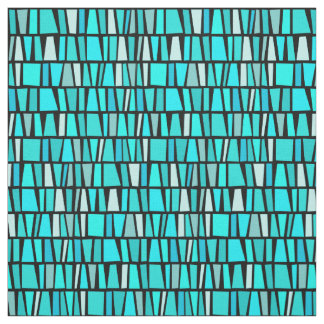 African Inspired Turquoise Domino Tribal Pattern Fabric