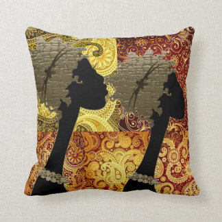 African Jungle  Sisters Throw Pillow