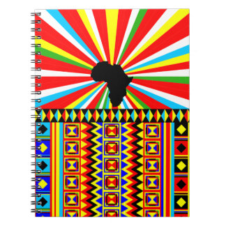 African Kente Cloth Tribal Print Pattern Colourful Notebook