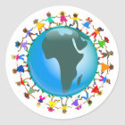 African Kids Classic Round Sticker