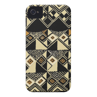 African Kuba Inspired Designs Case-Mate iPhone 4 Cases
