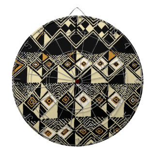 African Kuba Inspired Designs Dartboard With Darts
