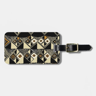 African Kuba Inspired Designs Luggage Tag