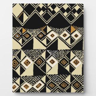 African Kuba Inspired Designs Plaque
