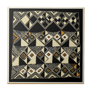African Kuba Inspired Designs Tile