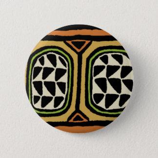 African Kuba Textile Design 2 Inch Round Button