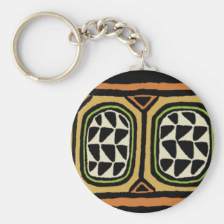 African Kuba Textile Design Keychain