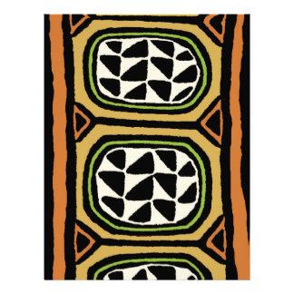 African Kuba Textile Design Letterhead