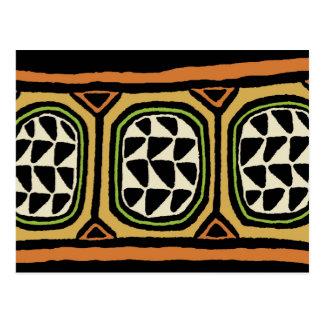 African Kuba Textile Design Postcard