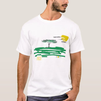 African Landscape Africa Painting T-Shirt Top