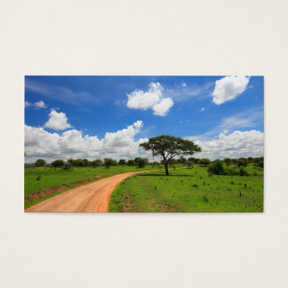African landscape business card