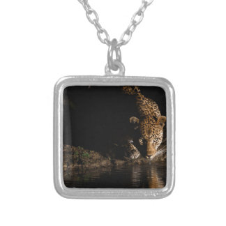 African Leopard Silver Plated Necklace