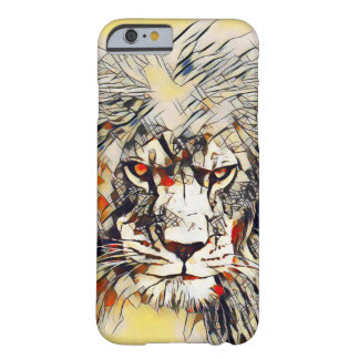 African Lion Abstract Watercolor Art iPhone 6 Case