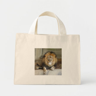 african-lion-b-2 mini tote bag