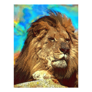 African-Lion-Digital Art Letterhead