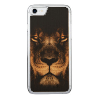 African Lion Face Art Carved iPhone 8/7 Case