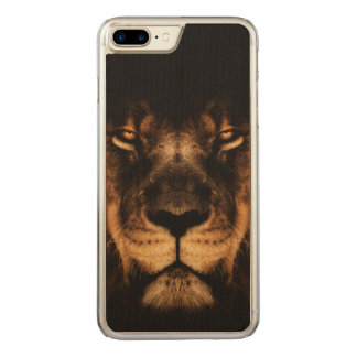 African Lion Face Art Carved iPhone 8 Plus/7 Plus Case
