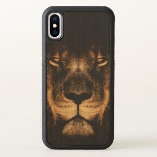 African Lion Face Art iPhone X Case