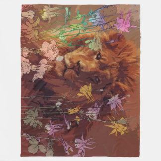 African lion Fleece Blanket, Large