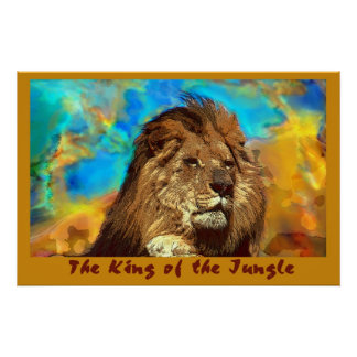 African-Lion-King of the Jungle Poster