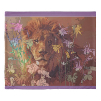 African lion King Size Duvet Cover