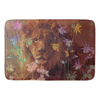 African lion Large Bath Mat