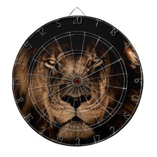 african lion mane close eyes dartboard