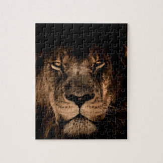 african lion mane close eyes jigsaw puzzle