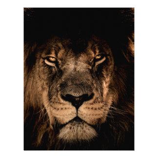 african lion mane close eyes letterhead