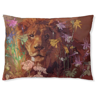 African lion Outdoor Dog Bed - Large