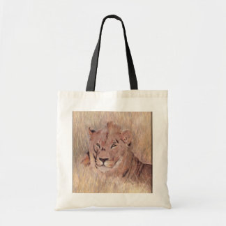 African Lion Painting Tote Bag