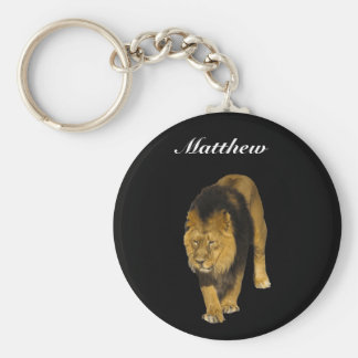 African Lion Personalized Keychain