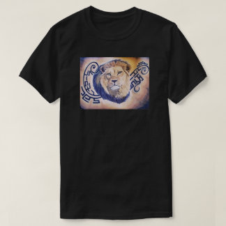 African Lion tribal combination T-Shirt
