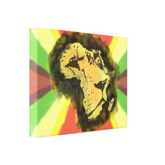 African Lion Wrapped Canvas. Canvas Print