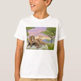African Lions Kids T-Shirt