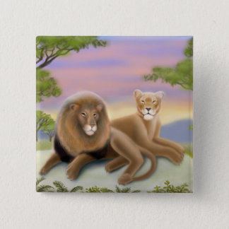African Lions on the Savannah Pin