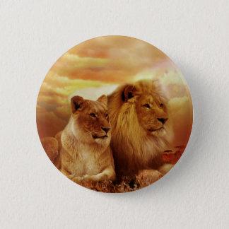 African lions - safari - wildlife 2 inch round button