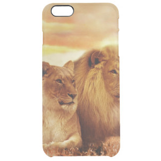 African lions - safari - wildlife clear iPhone 6 plus case