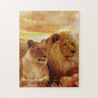 African lions - safari - wildlife jigsaw puzzle