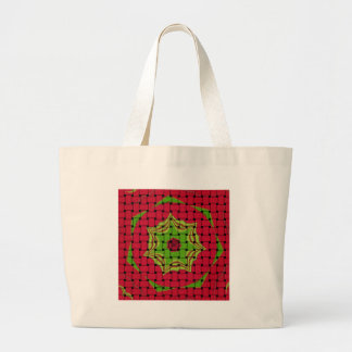 African Lovely Woven red design Large Tote Bag