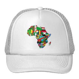 African Map of Africa flags within country maps Trucker Hat