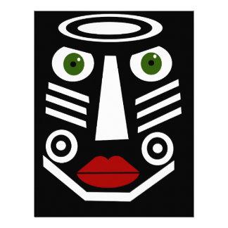 African mask custom letterhead