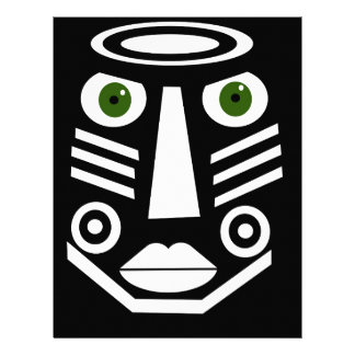 African mask customized letterhead