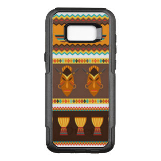 African Mask Drum Pattern Design OtterBox Commuter Samsung Galaxy S8+ Case
