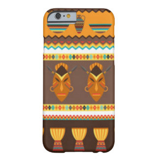 African Mask Drum Pattern Print Design Barely There iPhone 6 Case